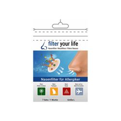Filter your life® Nasenfilter für Allergiker Gr. L
