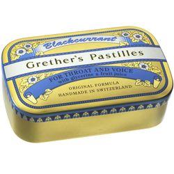 Grethers Blackcurrant Gold zuckerhaltige Pastillen