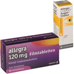 allegra® 120 mg 30 Filmtabletten + Allergo-COMOD® Augentropfen 10 ml