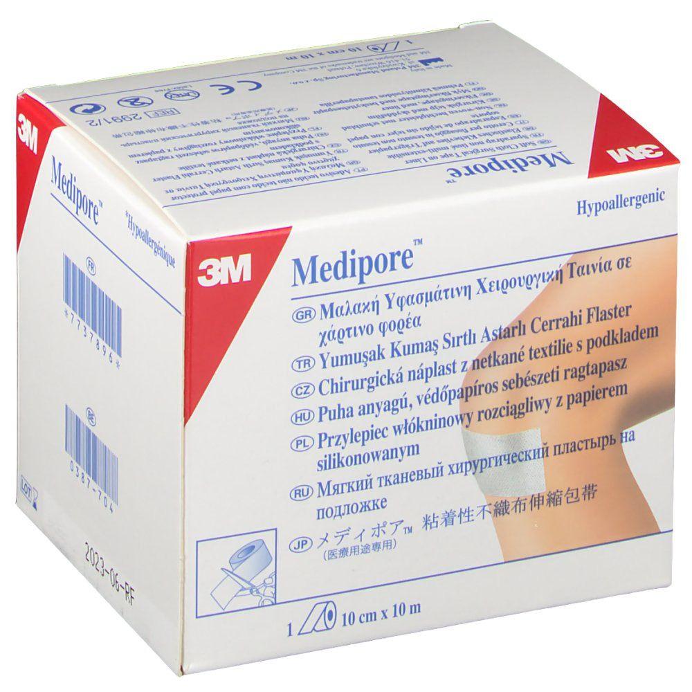 3M Medipore Fixiervlies hypoallergen 10 cm x 10 m