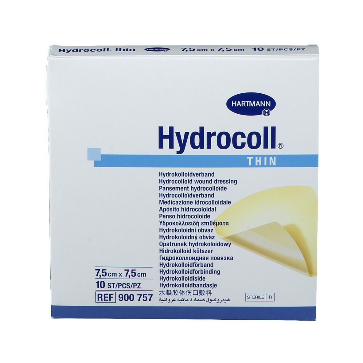 Hydrocoll® thin Wundverband steril 7,5 x 7,5 cm