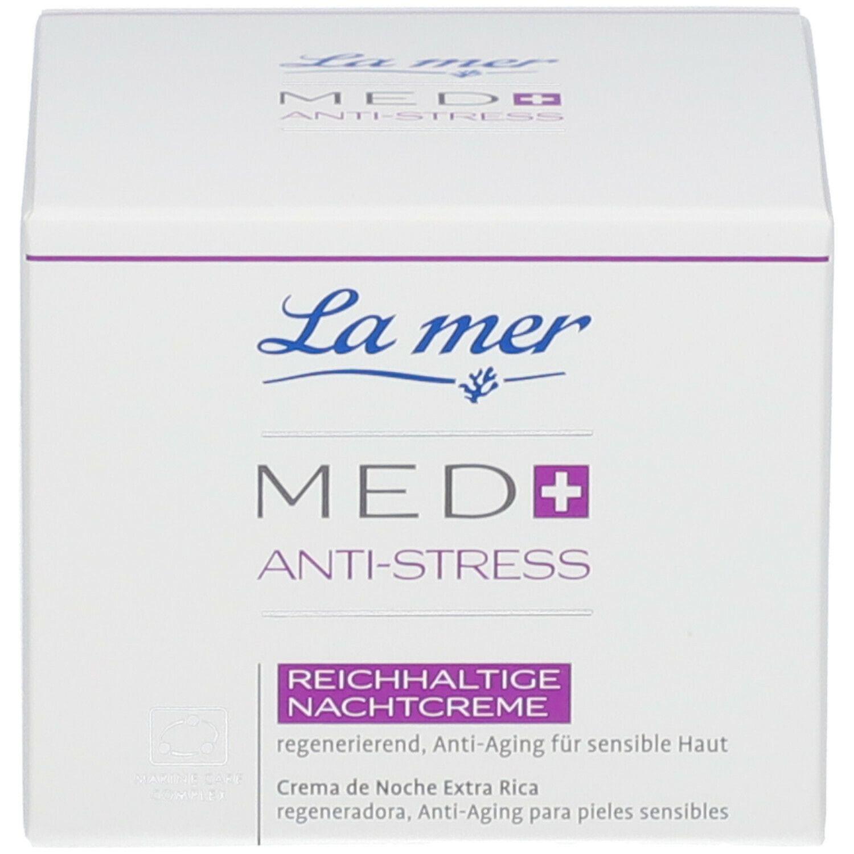 LA MER MED+ Anti-Stress Reichhaltige Nachtcreme ohne Parfum