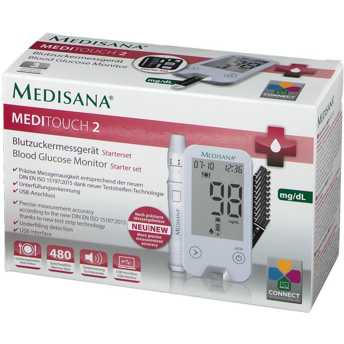 MediTouch® 2 mg/dL Blutzuckermessgerät inkl. Starterset
