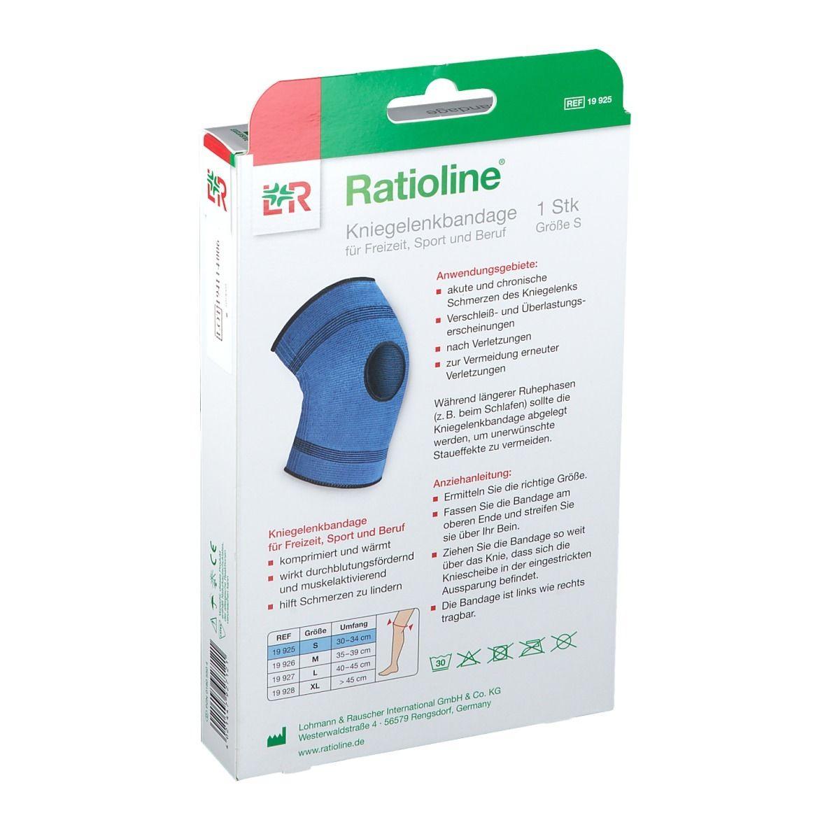 Ratioline® active Kniegelenkbandage Grösse S
