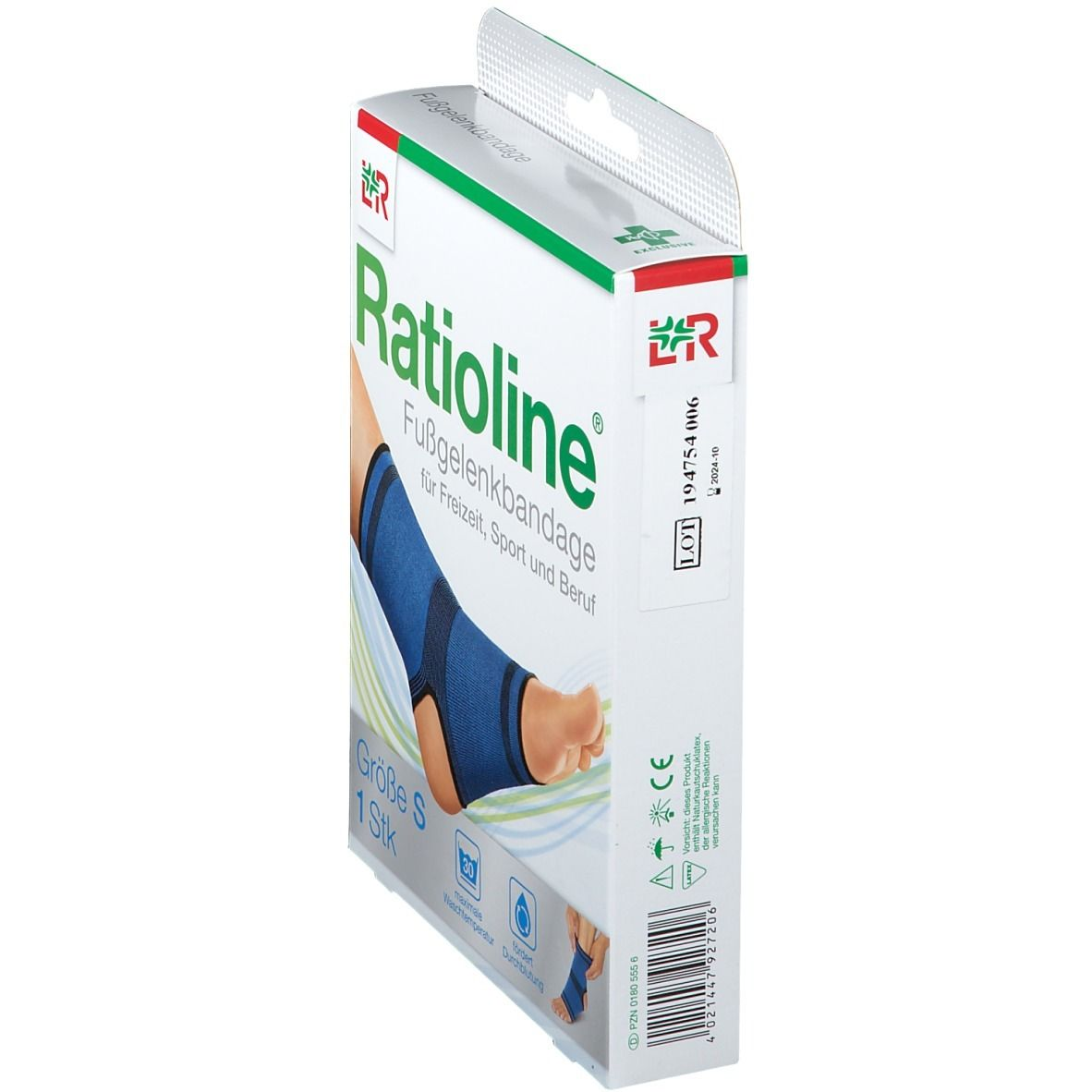 Ratioline® Fußgelenkbandage Gr. S