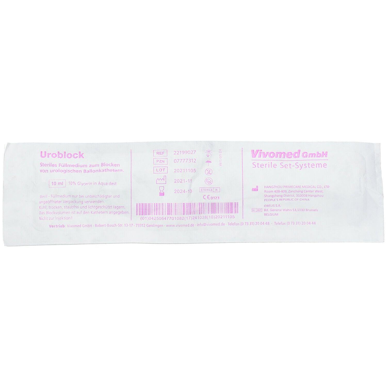 Uroblock 10 ml 10% Glycerin in Aqua ad Injectabilia