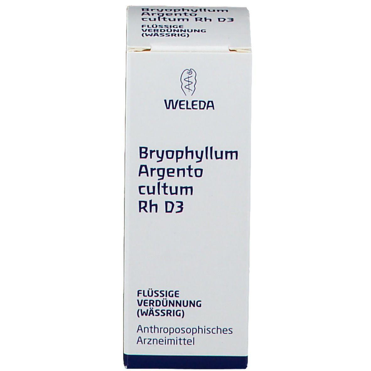 Weleda Byophyllum Argento cultum Rh D3