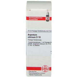 DHU Argentum Nitricum D10