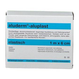 Aluderm Aluplast Wundverb.Pfl. 1 m x 6 cm elast.