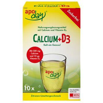 apoday® Calcium + D3 Zitrone Limette zuckerfrei