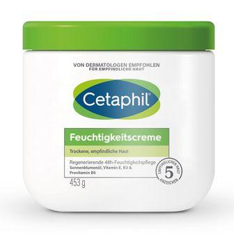 Cetaphil® Feuchtigkeitscreme + 88 ml Cetaphil® Tagespflege mit Hyaluronsäure GRATIS