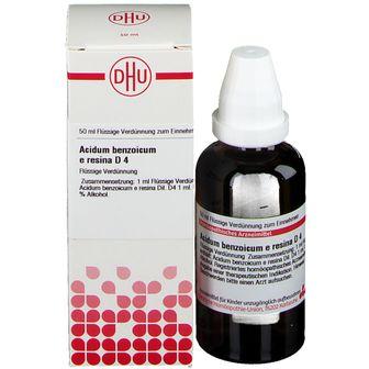 DHU Acidum Benzoicum e Resina D4