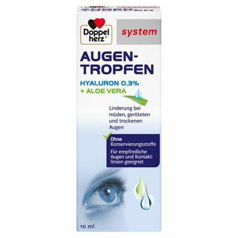 Doppelherz® system Augentropfen Hyaluron 0,3 % + Aloe Vera