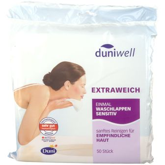 duniwell Sanft reinige Einmalwaschlappen sensitiv