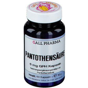 GALL PHARMA Pantothensäure 6 mg GPH Kapseln