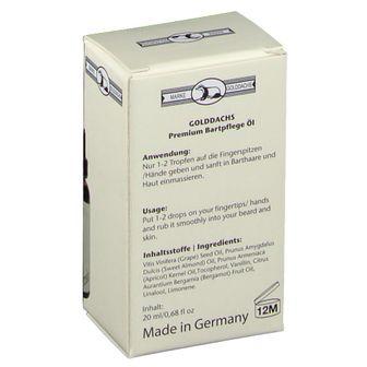 GOLDDACHS Premium Bartpflege-Öl