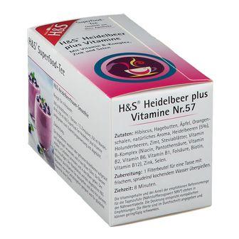 H&S Superfood-Tee Heidelbeer plus Vitamine