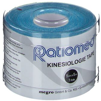 Kinesiologie-Tape ratiomed 5 m x 5 cm, blau