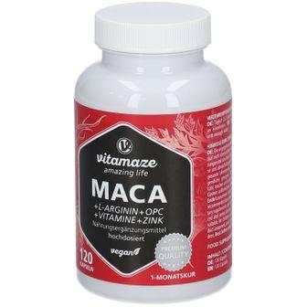 MACA 10:1 HOCHDOSIERT + L-Arginin + OPC + Vitamin vegan