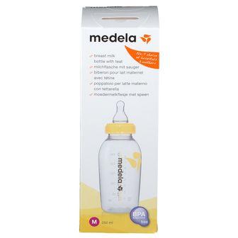medela Muttermilchflasche 250 ml mit Sauger M mittlerer Fluss