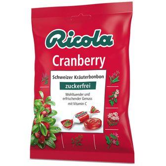 Ricola® Schweizer Kräuterbonbons Cranberry ohne Zucker