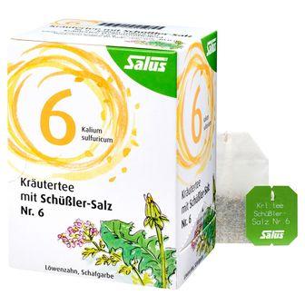 Salus® Kräutertee mit Schüßler-Salz Nr. 6 Kalium sulfuricum