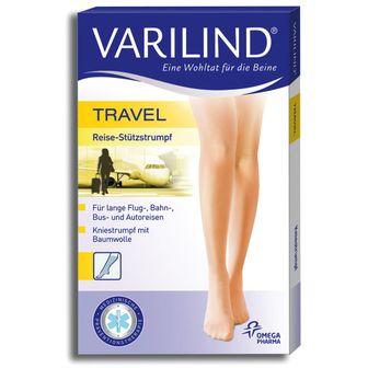 VARILIND® Travel Kniestrümpfe 180 DEN beige Gr. S (37,5-40)