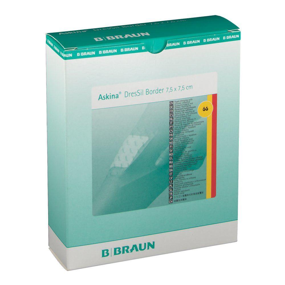 Askina® DresSil Border 7,5 x 7,5 cm