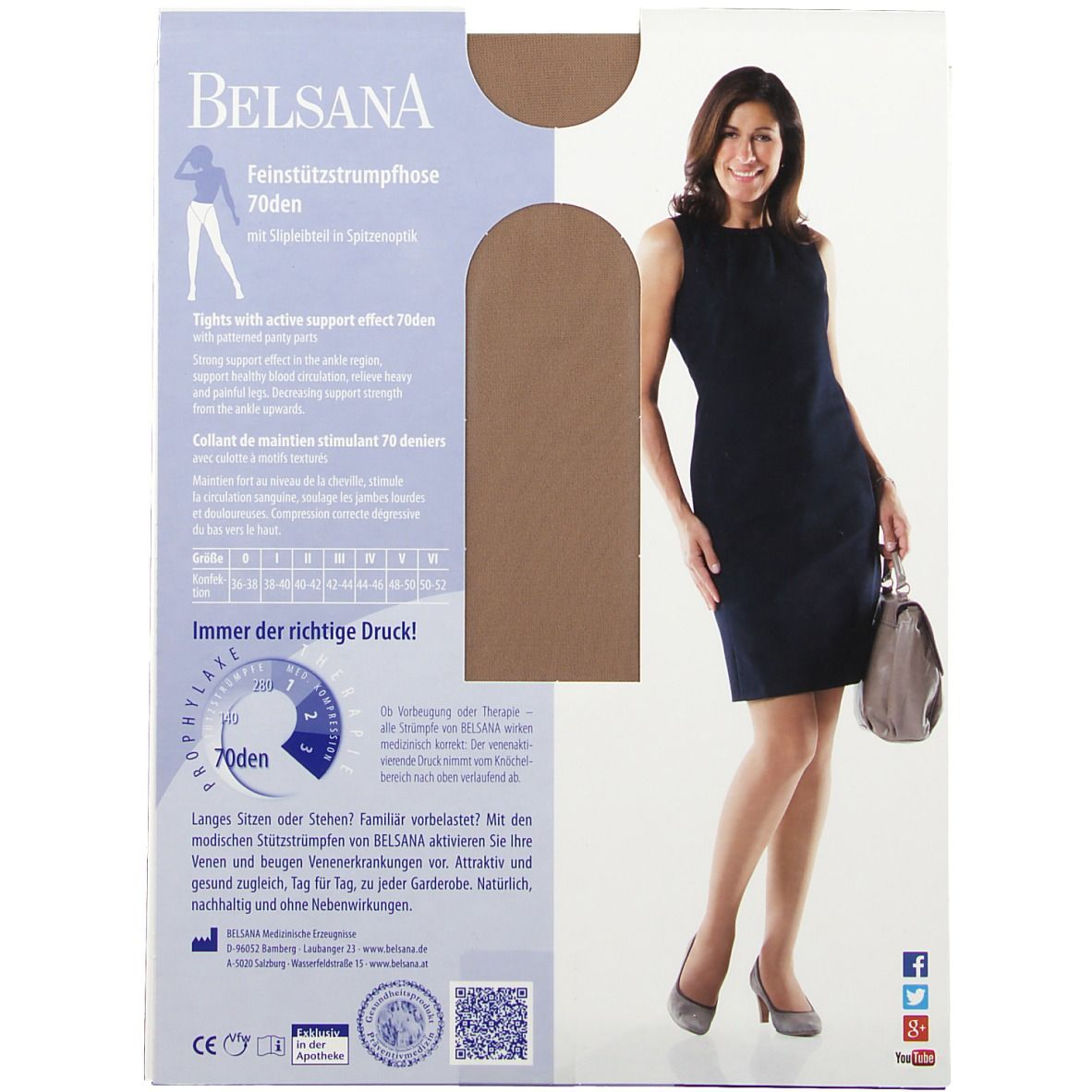 Belsana 70den Feinstützstrumpfhose Größe 2