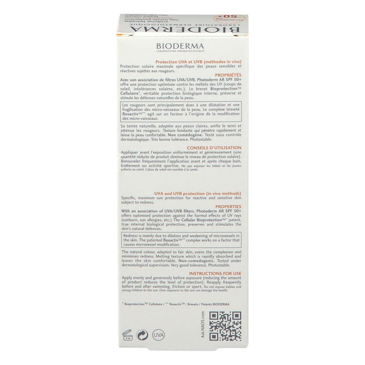 BIODERMA Photoderm A-R Anti-Rötungen Sonnenschutz SPF 50+