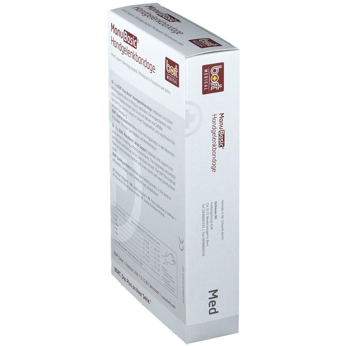 BORT Manu Basic® links Gr. M silber