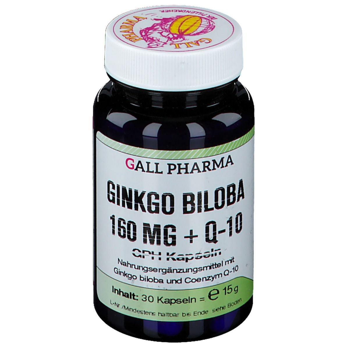 GALL PHARMA Ginkgo Biloba 160 mg + Q-10 GPH