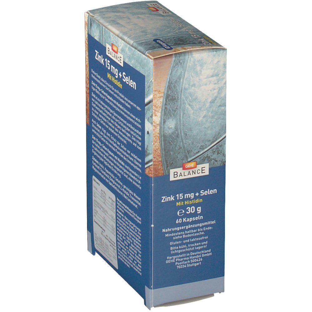 GEHE BALANCE Zink 15 mg + Selen