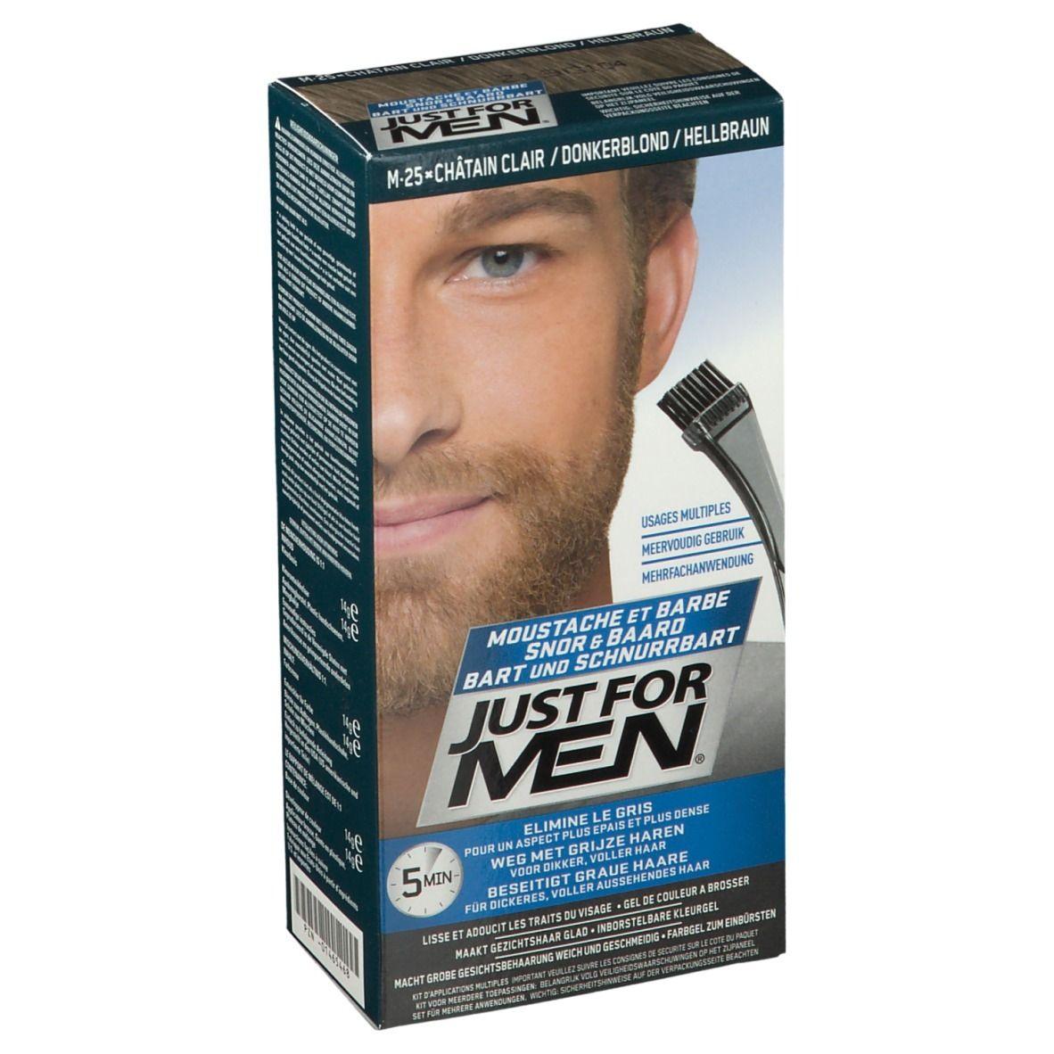 JUST FOR MEN Pflege-Brush-In-Color-Gel hellbraun