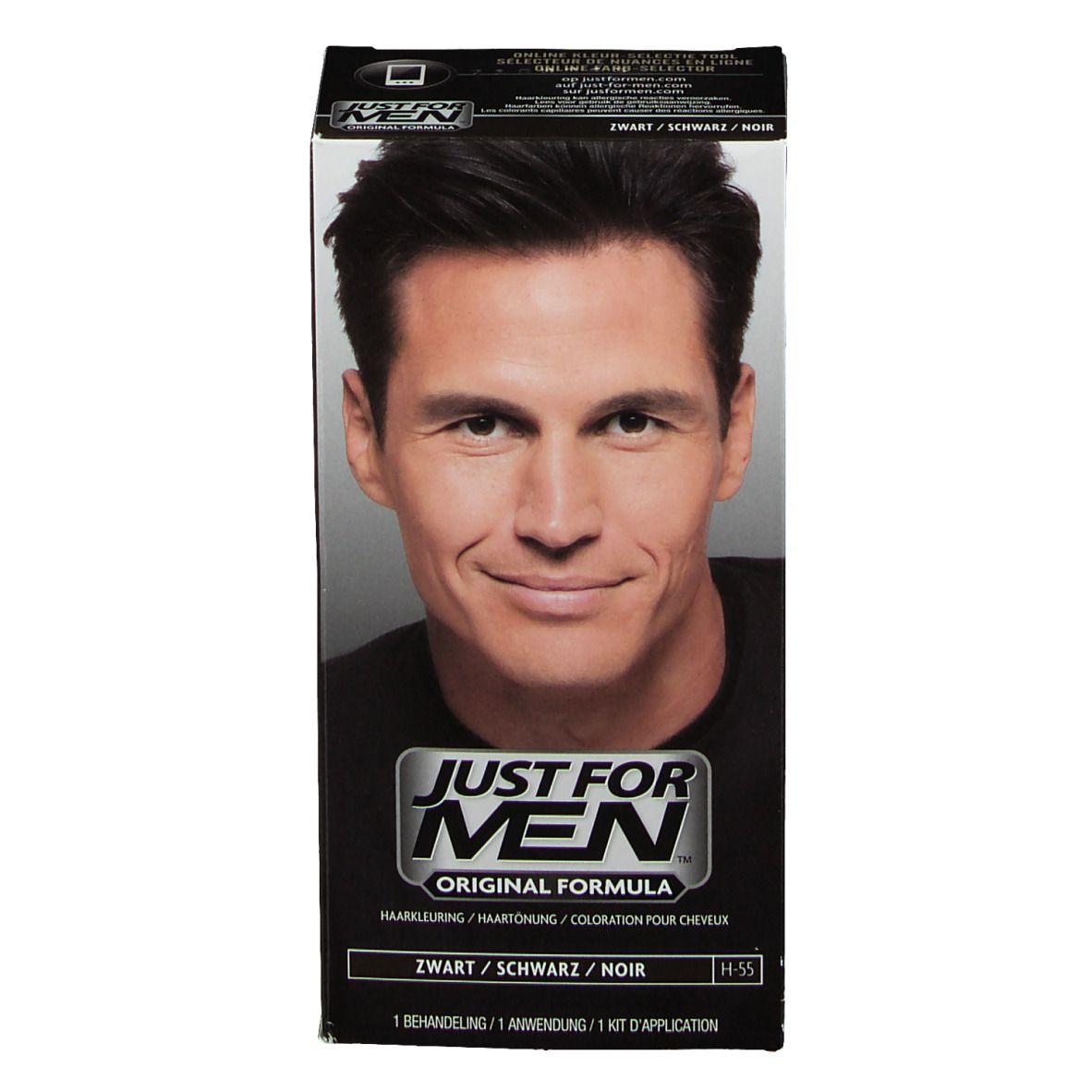 JUST FOR MEN Pflege-Tönungs-Shampoo schwarz