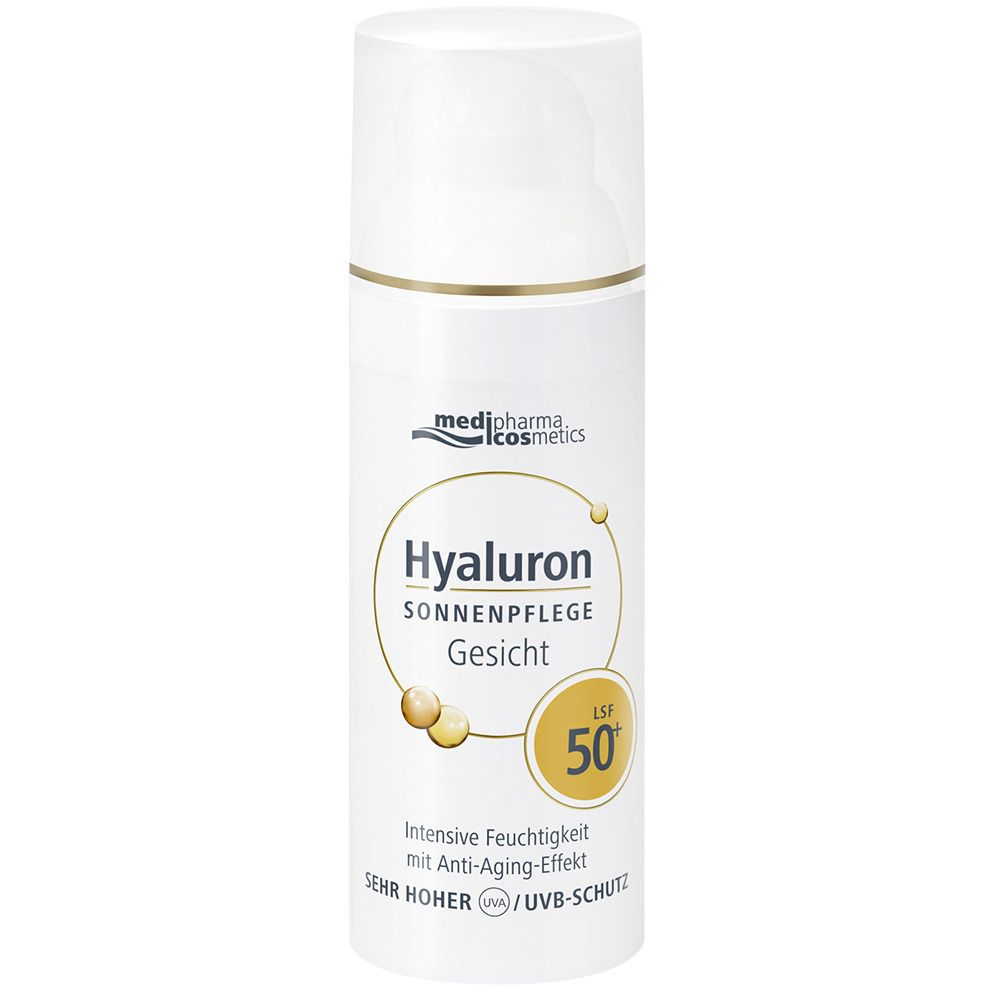 medipharma cosmetics Hyaluron Sonnenpflege Gesicht Creme LSF 50+