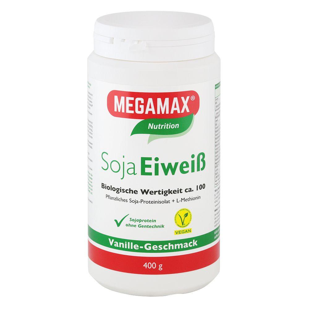 MEGAMAX® Nutrition Soja Eiweiß 80+ Vanille-Geschmack