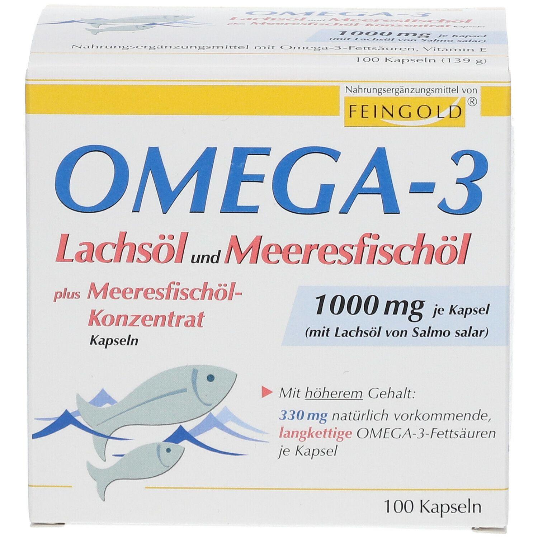 Omega-3 Lachsöl und Meeresfischöl Kapseln