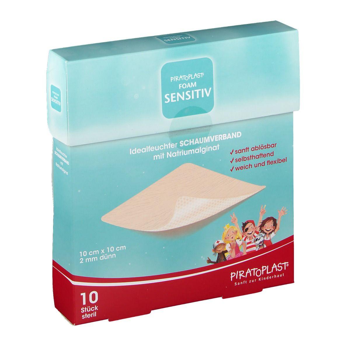Piratoplast® Foam sensitive 10 x 10 cm steril