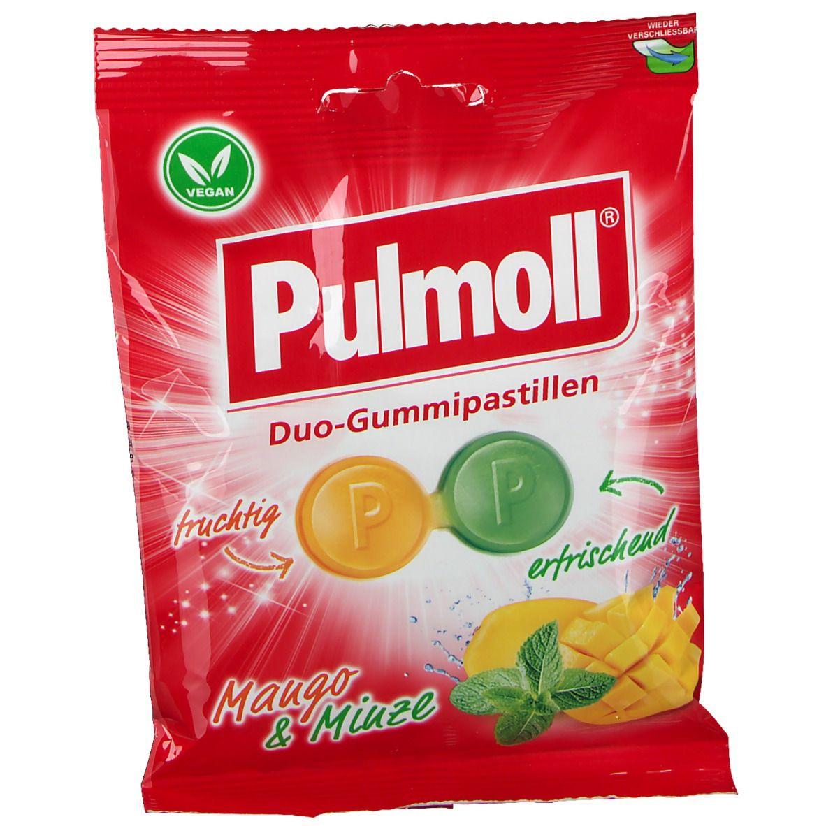 Pullmoll® Duo-Gummipastillen Mango & Minze