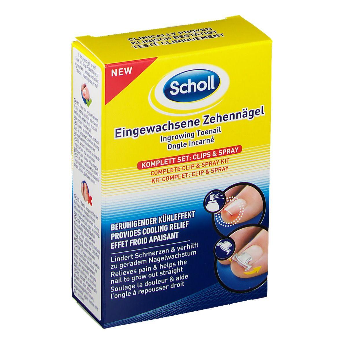 Scholl Eingewachsene Zehennägel Komplett Set: Clips & Spray
