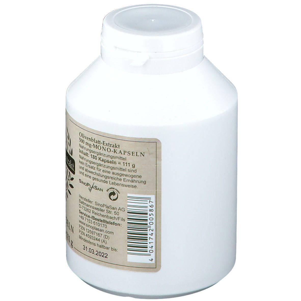 SinoPlaSan Olivenblatt-Extrakt 500 mg
