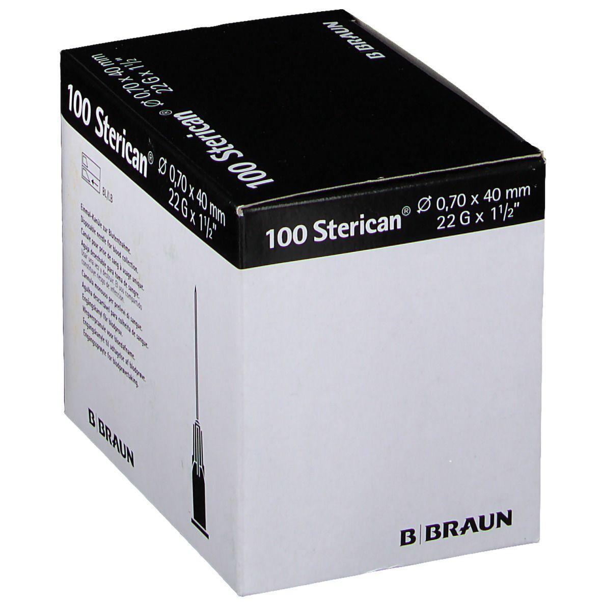 Sterican® zur Blutentnahme G22 x 1 1/2 Zoll 0,7 x 40 mm schwarz